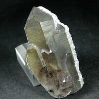 Smoky Quartz With Epidote Inclusions & Calcite