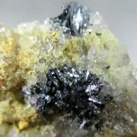 Ferrimolybdite & Molybdenite