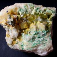 Fluorite Malachite & Baryte