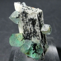Fluorite On Microcline & Schorl