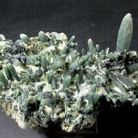 Prase & Hematite On Hedenbergite