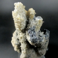 Stibnite On Calcite Psm Aragonite