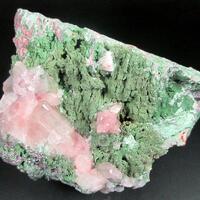 Chabazite-Ca On Clinochlore Var Delessite & Calcite