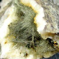 Millerite & Chalcopyrite On Dolomite