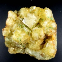Torbernite On Fluorite