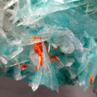 Minium On Calcite On Aurichalcite