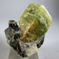 Beryl & Columbite On Smoky Quartz
