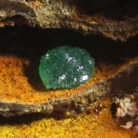 Cuprian Adamite On Limonite