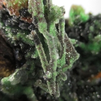 Quartz On Conichalcite On Calcite