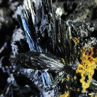 Vivianite On Cryptomelane