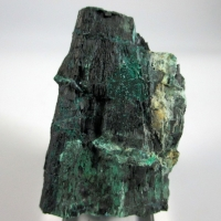 Chalcocite & Malachite Psm Fossil Wood
