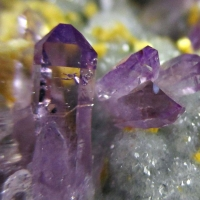 Amethyst & Ankerite On Calcite