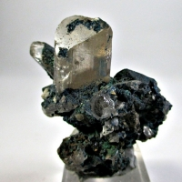 Linarite Brochantite & Malachite On Cerussite
