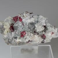 Cinnabar With Fluorite & Quartz