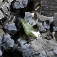 Native Sulphur On Pyrite