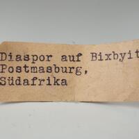 Diaspore & Bixbyite