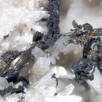 Native Silver On Laumontite