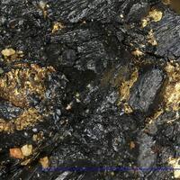 Native Gold In Uraninite