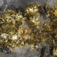 Native Gold Tsumoite & Tellurobismuthite