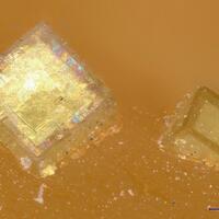 Caesiumpharmacosiderite & Hydroniumpharmacosiderite