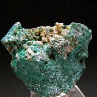 Anglesite On Quartz & Malachite