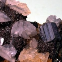 Bournonite & Calcite On Arsenopyrite
