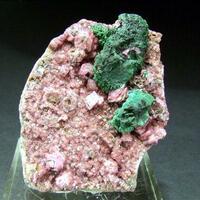 Cobaltoan Dolomite & Malachite