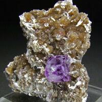 Fluorite On Quartz Arsenopyrite & Muscovite