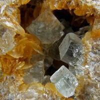 Fluorite On Siderite