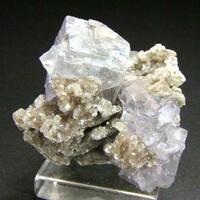 Fluorite Quartz On Muscovite