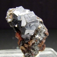 Galena On Pyrosmalite-(Mn)