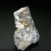 Gold Coloradoite & Hessite In Quartz