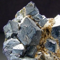 Magnetite In Calcite & Diopside