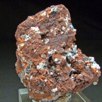Shannonite & Hydrocerussite On Minium