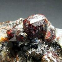 Spessartine In Galena & Chalcopyrite