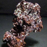 Cuprite & Calcite On Native Copper