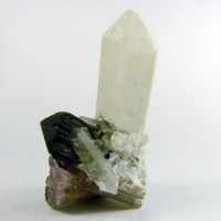 Elbaite On Quartz
