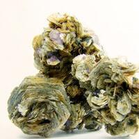 Fluorite On Muscovite & Schorl