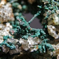 Native Copper On Cerussite