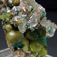 Smithsonite Hemimorphite & Rosasite