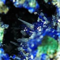 Azurite & Cerussite On Malachite