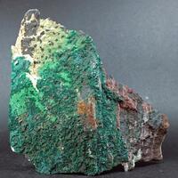 Brochantite On Pseudomalachite