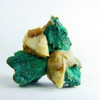Malachite On Chalcopyrite