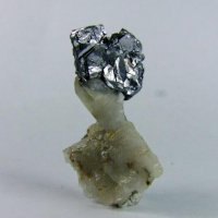 Molybdenite On Quartz
