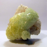 Prehnite On Quartz