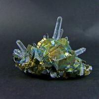 Quartz On Chalcopyrite