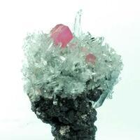 Rhodochrosite & Quartz On Sphalerite