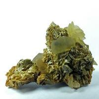 Siderite & Calcite On Quartz