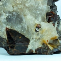 Spessartine In Quartz