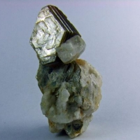 Apatite On Muscovite & Albite